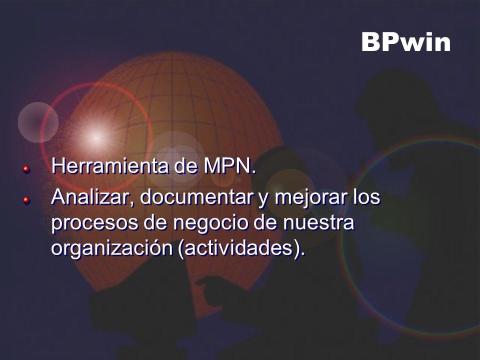 Herramienta de MPN. Analizar, documentar y mejorar los procesos de negocio de nuestra organización (actividades). Herramienta de MPN. Analizar, docume