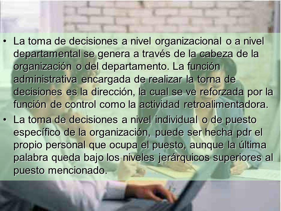 No existe posibilidad de desarrollar la toma de decisiones.No existe posibilidad de desarrollar la toma de decisiones.