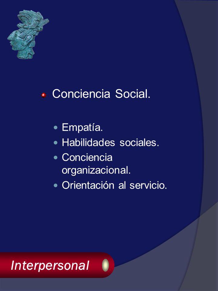 Interpersonal Conciencia Social. Empatía. Habilidades sociales.
