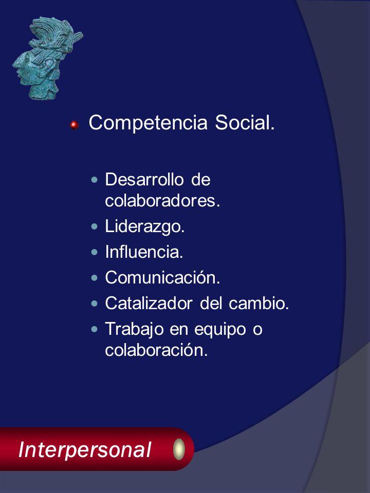 Interpersonal Competencia Social. Desarrollo de colaboradores.