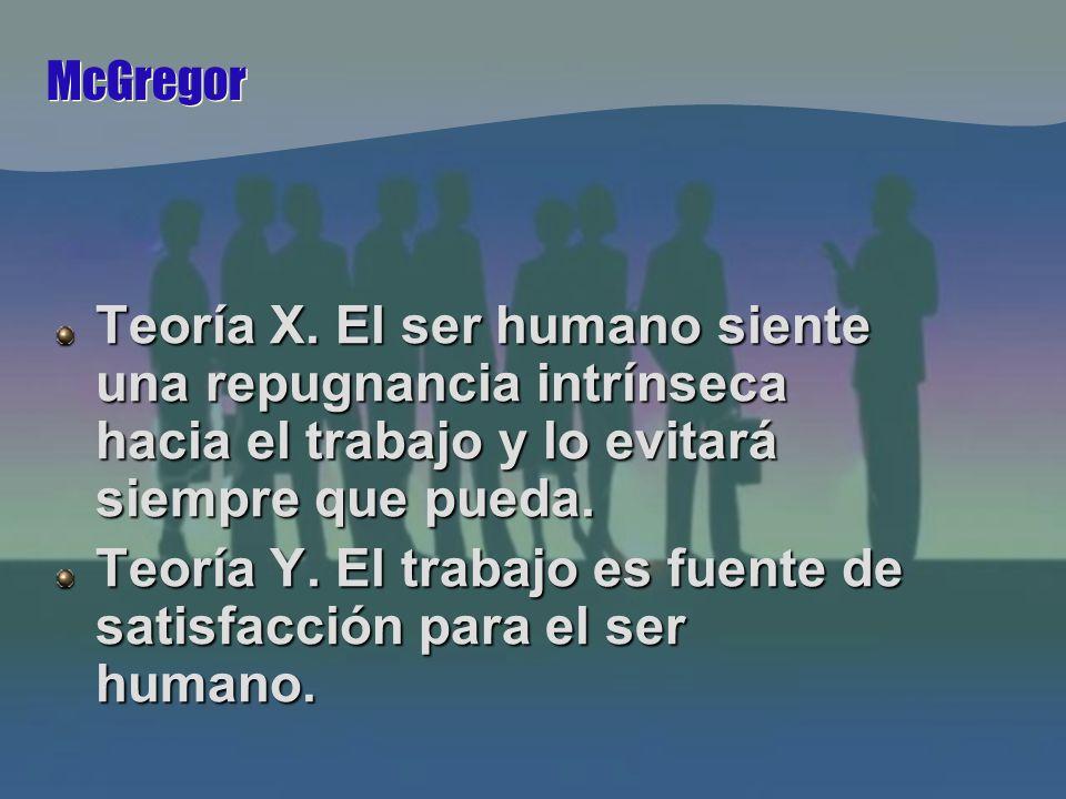 McGregor Teoría X.