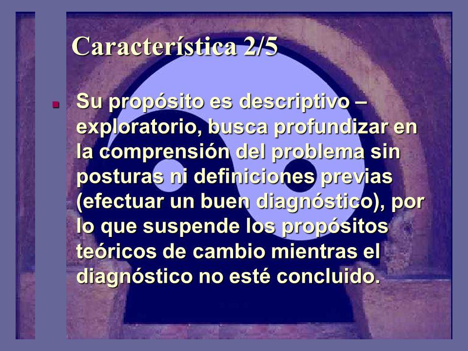 Característica 1/5 Analizar acciones humanas y situaciones sociales que pueden ser inaceptables en algunos aspectos (problemáticas); susceptibles de c