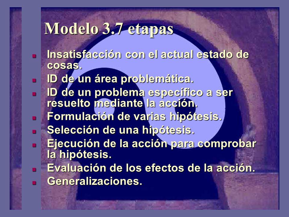 Modelo 3.7 etapas El concepto tradicional de IA proviene del modelo de las tres etapas del cambio social: Descongelación, Movimiento, Recongelación. E