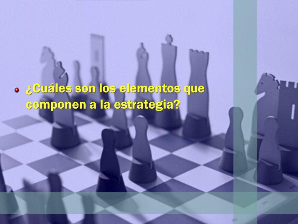 ¿Cuáles son los elementos que componen a la estrategia?