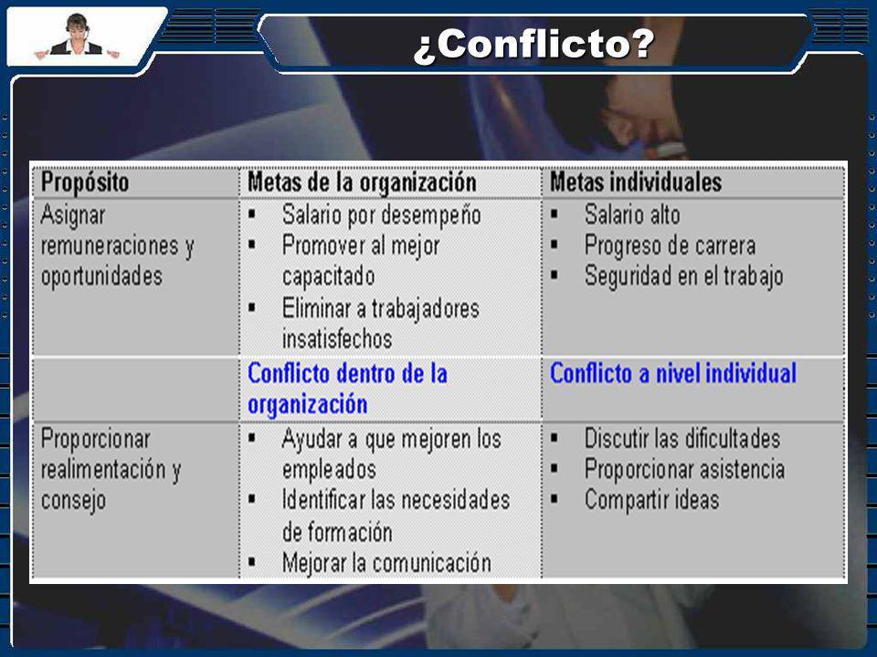¿Conflicto?