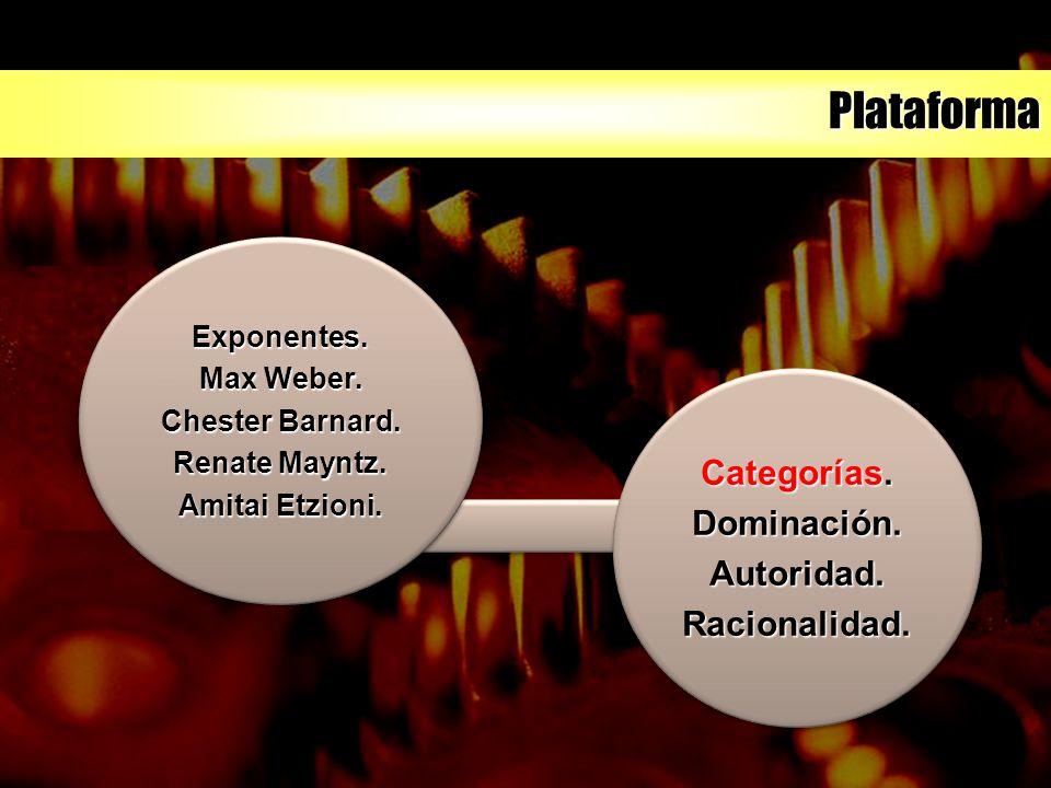 Plataforma Exponentes. Max Weber. Chester Barnard.