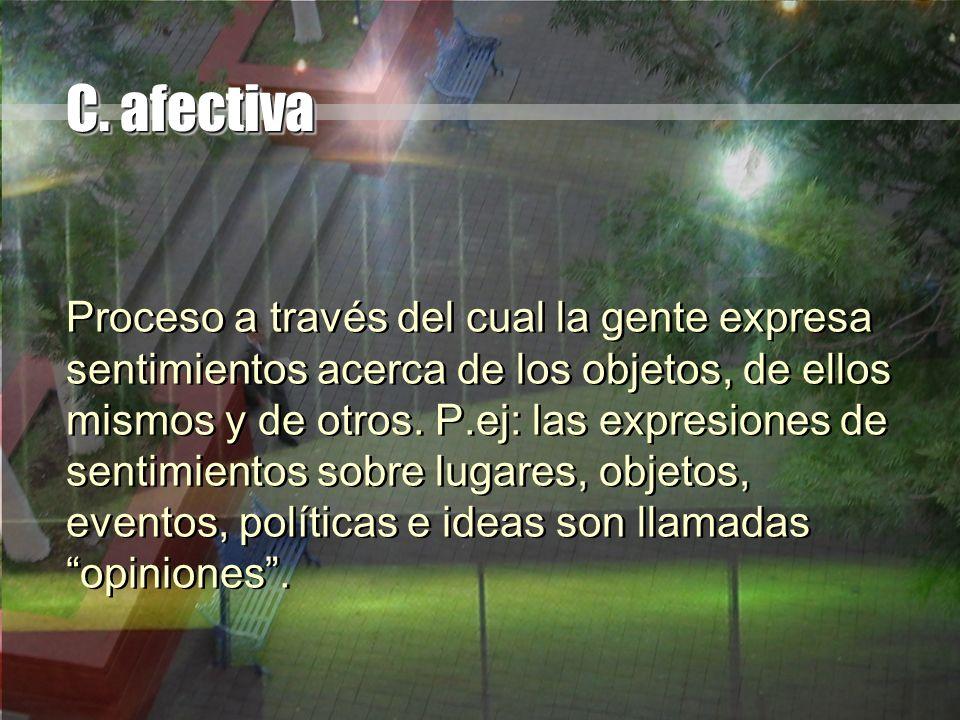 C. afectiva