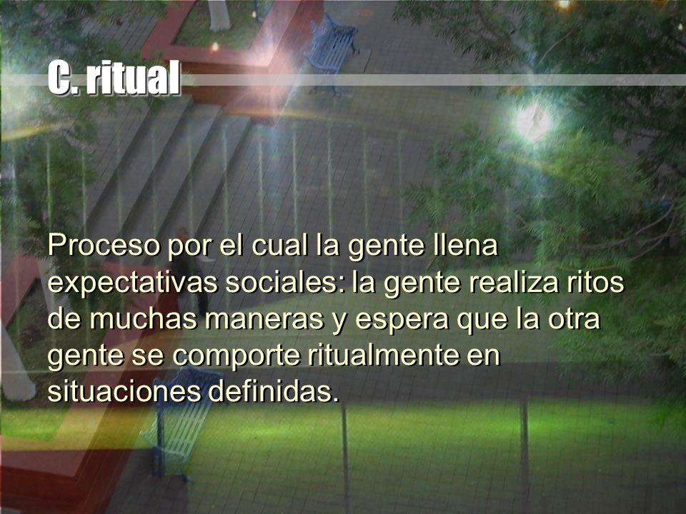 C. ritual