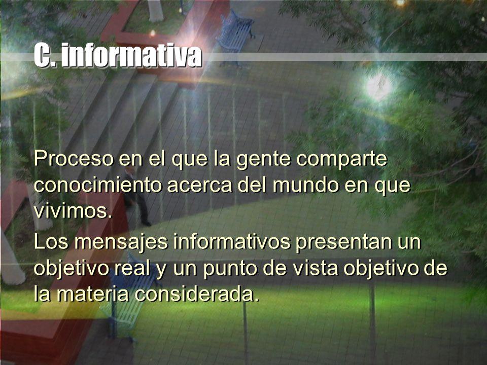 C. informativa