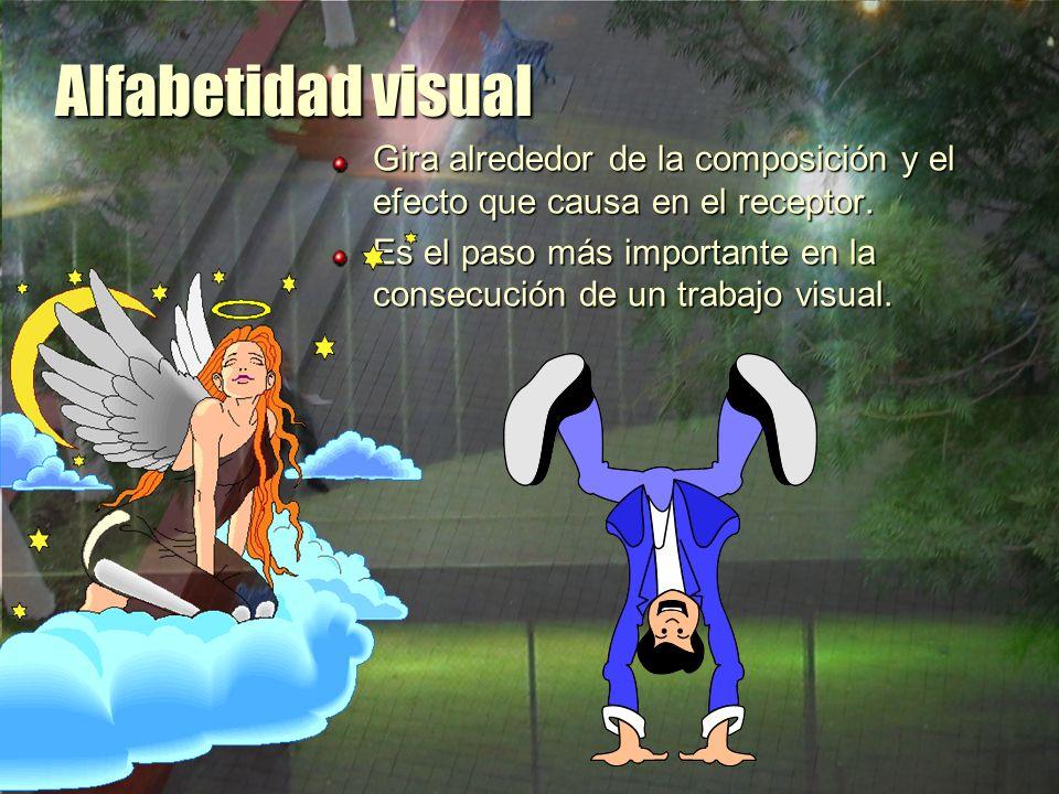Alfabetidad visual Los resultados marcan el propósito y el significado de la declaración visual y tienen fuertes implicaciones sobre lo que recibe el espectador.