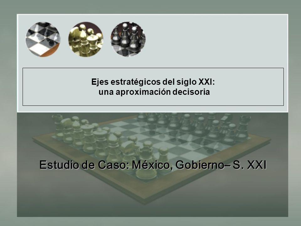 Ejes estratégicos del siglo XXI: una aproximación decisoria Estudio de Caso: México, Gobierno– S.