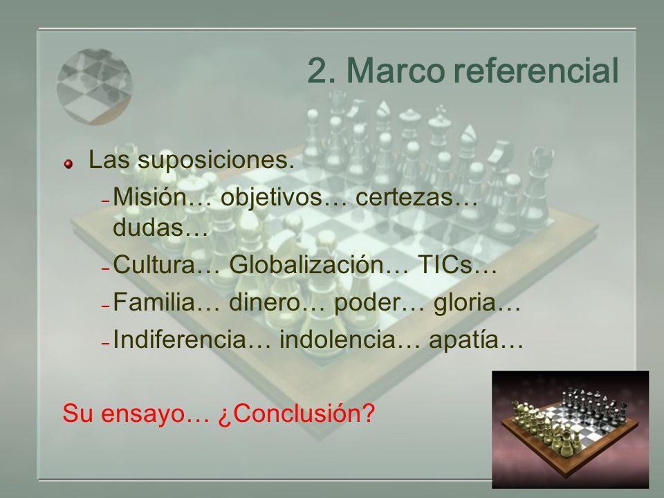 2.Marco referencial Las suposiciones.