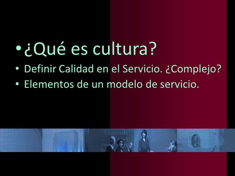 Cultura de servicio Interpretación de la realidad.
