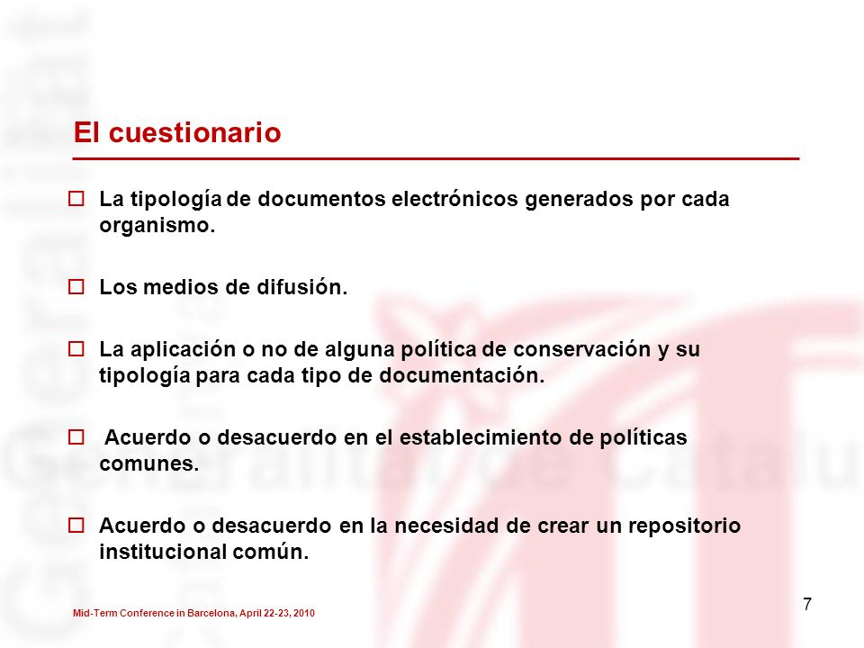 18 Sugerencias de posibles actuaciones de futuro Constitución de un equipo de trabajo multidisciplinar dedicado a esta tarea.
