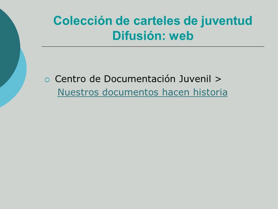 Colección de carteles de juventud Difusión: web Centro de Documentación Juvenil > Nuestros documentos hacen historia