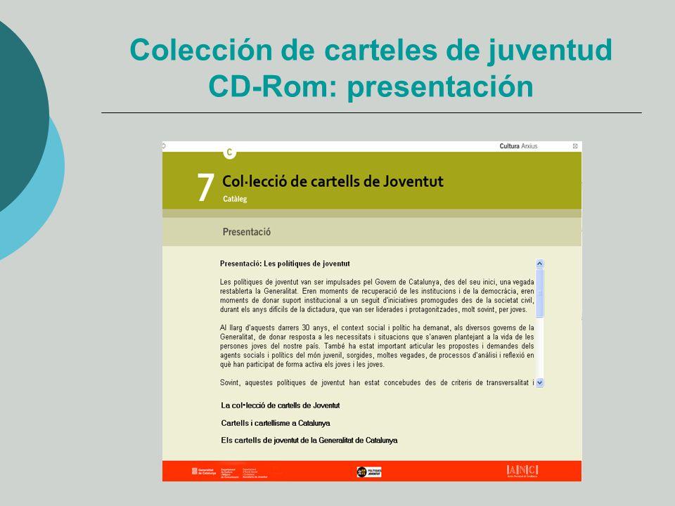 Colección de carteles de juventud CD-Rom: presentación