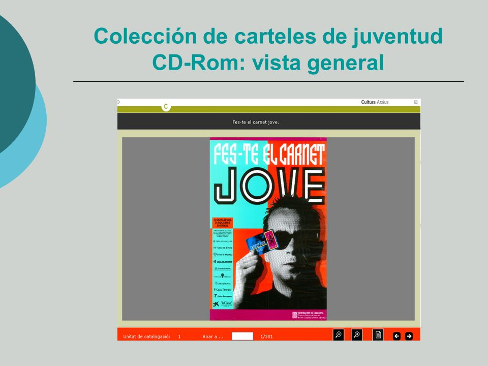 Colección de carteles de juventud CD-Rom: vista general