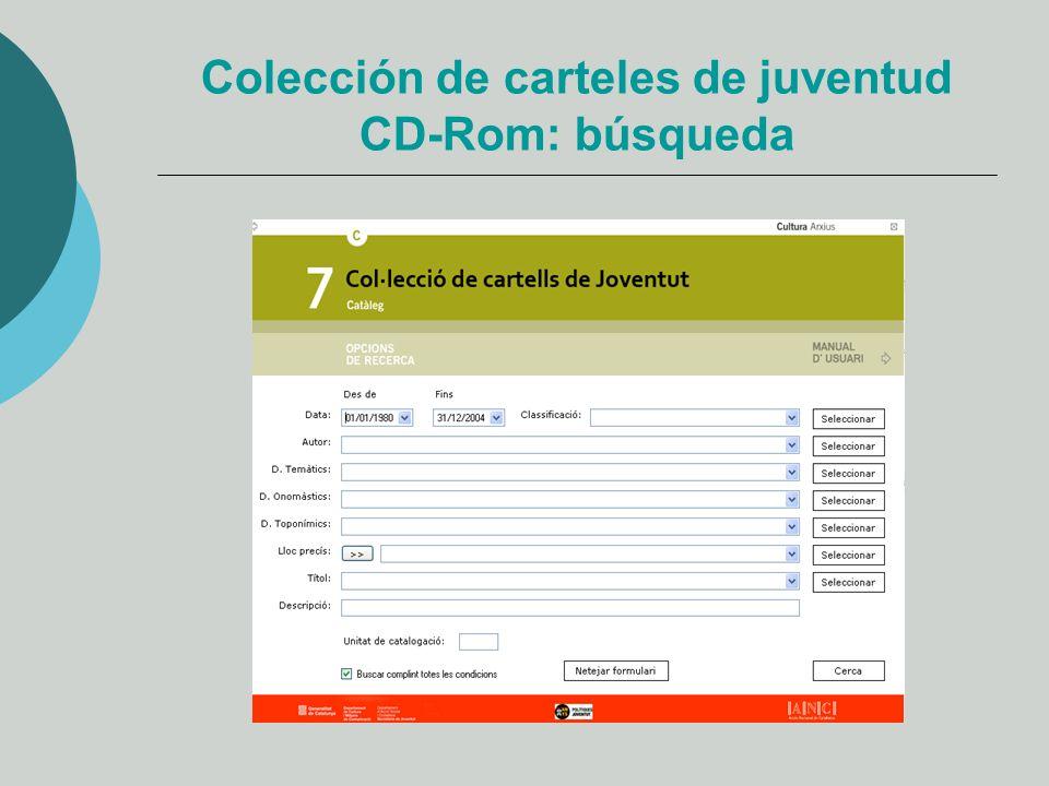 Colección de carteles de juventud CD-Rom: búsqueda