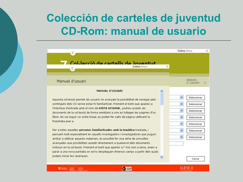 Colección de carteles de juventud CD-Rom: manual de usuario