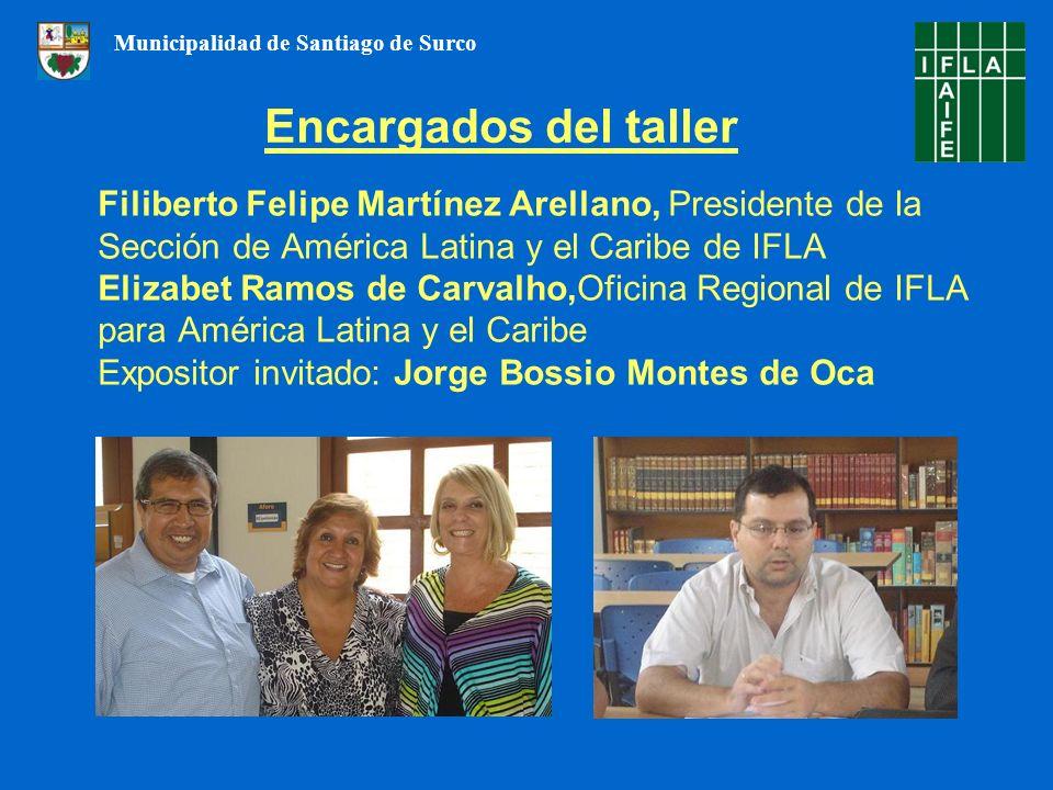 Filiberto Felipe Martínez Arellano, Presidente de la Sección de América Latina y el Caribe de IFLA Elizabet Ramos de Carvalho,Oficina Regional de IFLA
