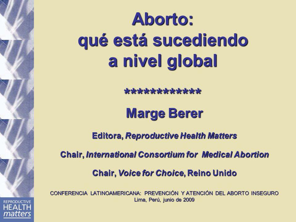 Tendencias de los métodos: contextos legales En EUA, D&E es el principal método usado para el aborto del segundo trimestre, si bien está descendiendo en Europa.