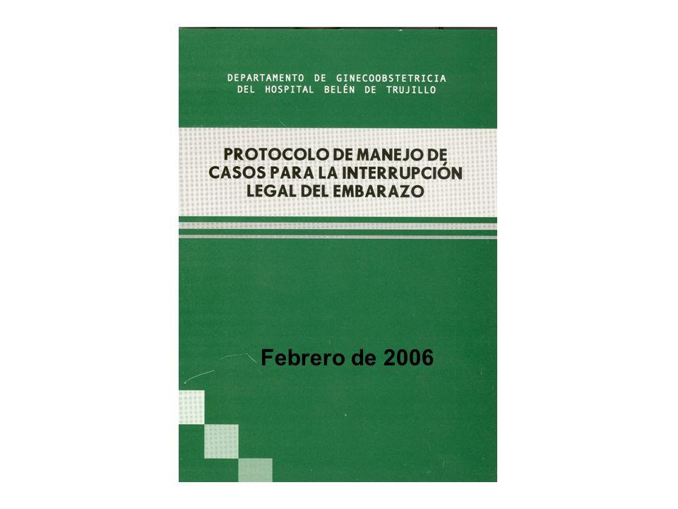El 7 de febrero de 2007, el Instituto Nacional Materno Perinatal aprobó, mediante la Resolución Directoral Núm.