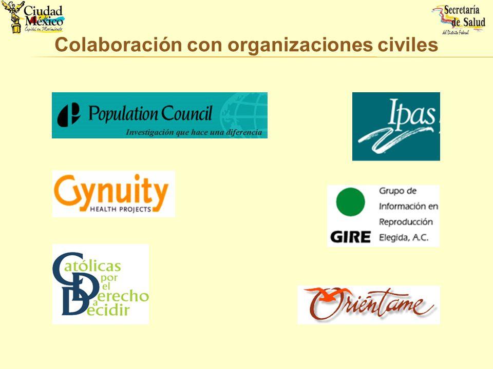 Colaboración con organizaciones civiles