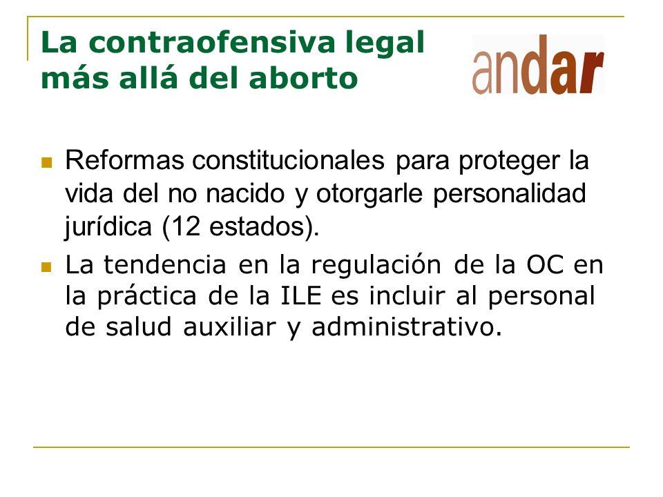 La contraofensiva legal más allá del aborto Reformas constitucionales para proteger la vida del no nacido y otorgarle personalidad jurídica (12 estado