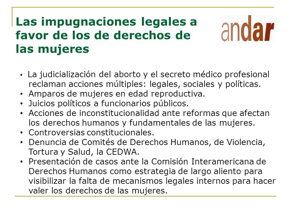Las impugnaciones legales a favor de los de derechos de las mujeres La judicialización del aborto y el secreto médico profesional reclaman acciones mú