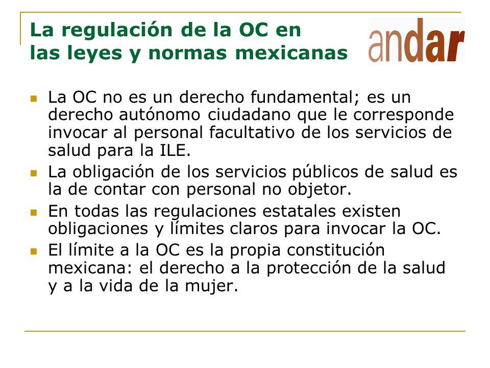 La regulación de la OC en las leyes y normas mexicanas La OC no es un derecho fundamental; es un derecho autónomo ciudadano que le corresponde invocar