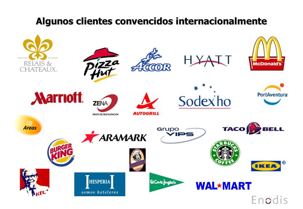 Algunos clientes convencidos internacionalmente