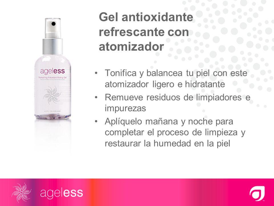 Gel antioxidante refrescante con atomizador Tonifica y balancea tu piel con este atomizador ligero e hidratante Remueve residuos de limpiadores e impu