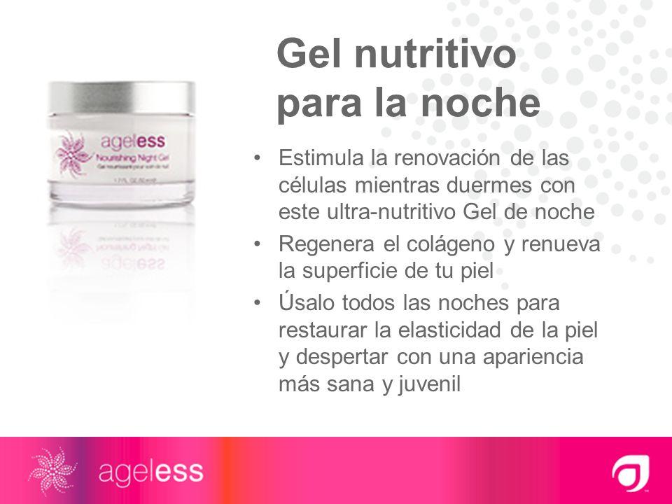 Gel nutritivo para la noche Estimula la renovación de las células mientras duermes con este ultra-nutritivo Gel de noche Regenera el colágeno y renuev