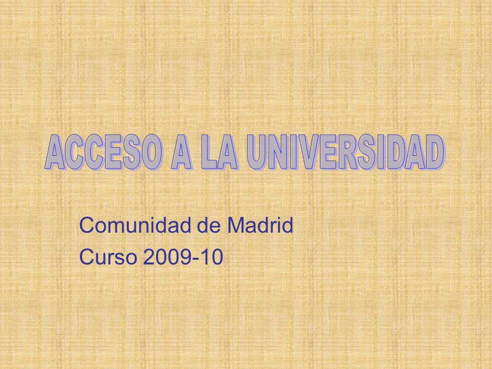 Comunidad de Madrid Curso 2009-10