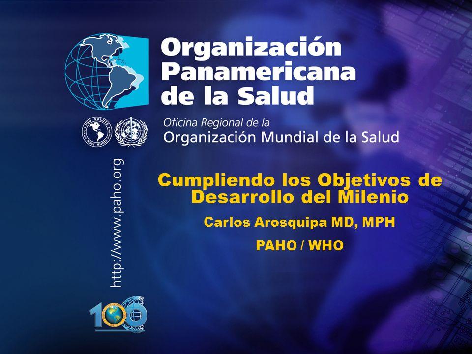 Organización Panamericana de la Salud Tendencia creciente del volumen de la ayuda oficial al desarrollo 1990 - 2010 0.33 0.22 ODA como % del PBI Source: OECD Database