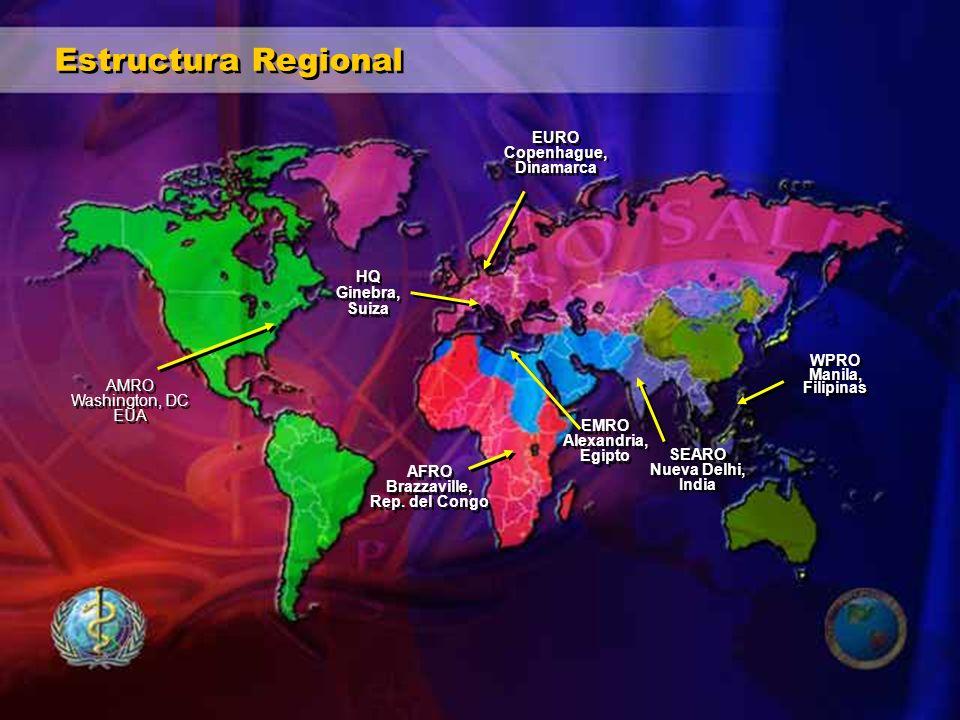 Organización Panamericana de la Salud Oficina Central Oficinas de País Centros Panamericanos CFNI CAREC PANAFTOSA BIREME CLAP CEPIS INCAP PRESENCIA DE OPS EN LA REGIÓN