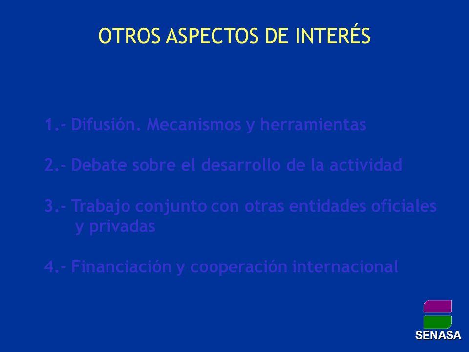 OTROS ASPECTOS DE INTERÉS 1.- Difusión. Mecanismos y herramientas 2.- Debate sobre el desarrollo de la actividad 3.- Trabajo conjunto con otras entida