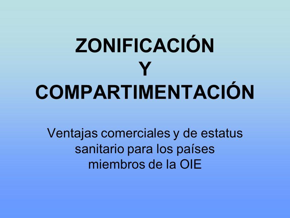 ZONIFICACIÓN Y COMPARTIMENTACIÓN Ventajas comerciales y de estatus sanitario para los países miembros de la OIE