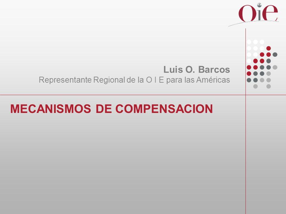 MECANISMOS DE COMPENSACION Luis O. Barcos Representante Regional de la O I E para las Américas