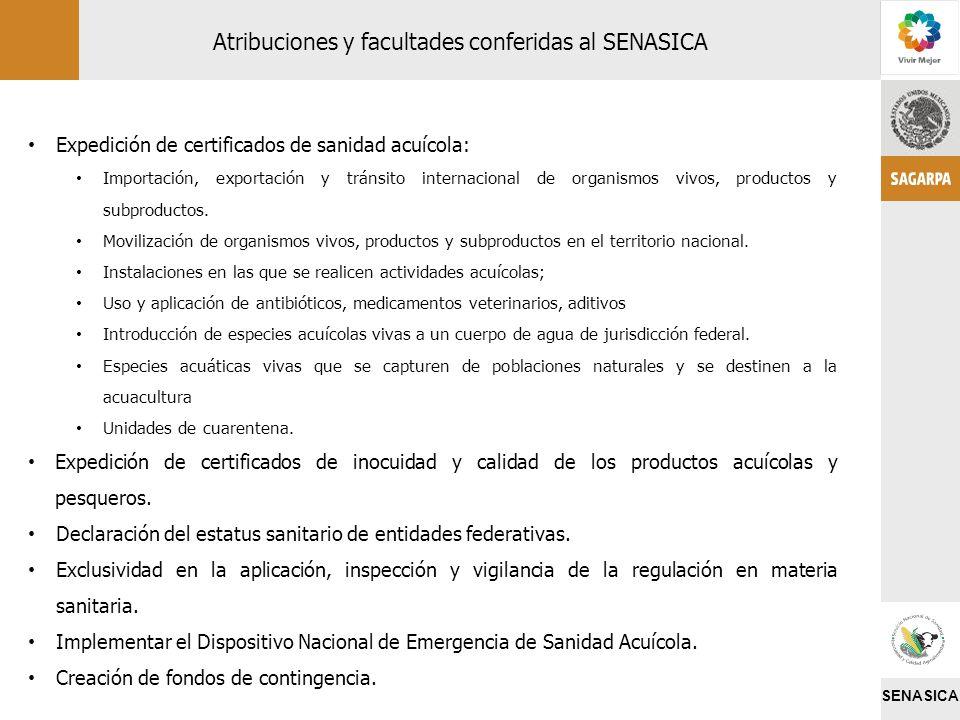 SENASICA Expedición de certificados de sanidad acuícola: Importación, exportación y tránsito internacional de organismos vivos, productos y subproduct