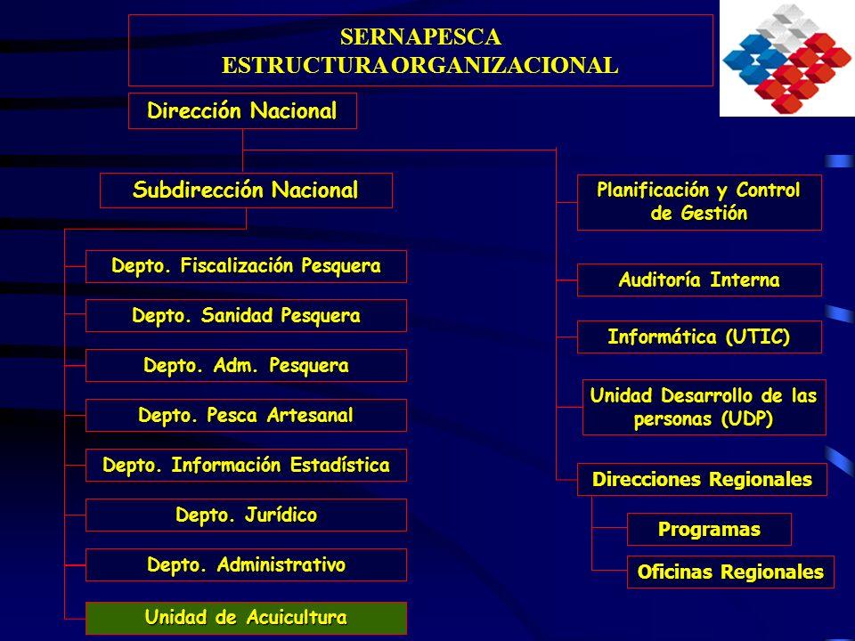 Dirección Nacional Direcciones Regionales Subdirección Nacional Unidad Desarrollo de las personas (UDP) Auditoría Interna Informática (UTIC) Depto. Fi