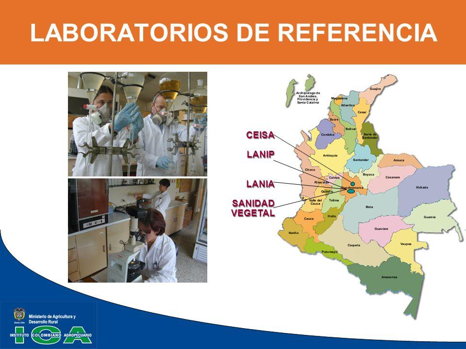 LABORATORIOS DE REFERENCIA CEISA LANIP LANIA SANIDAD VEGETAL CEISA LANIP LANIA SANIDAD VEGETAL