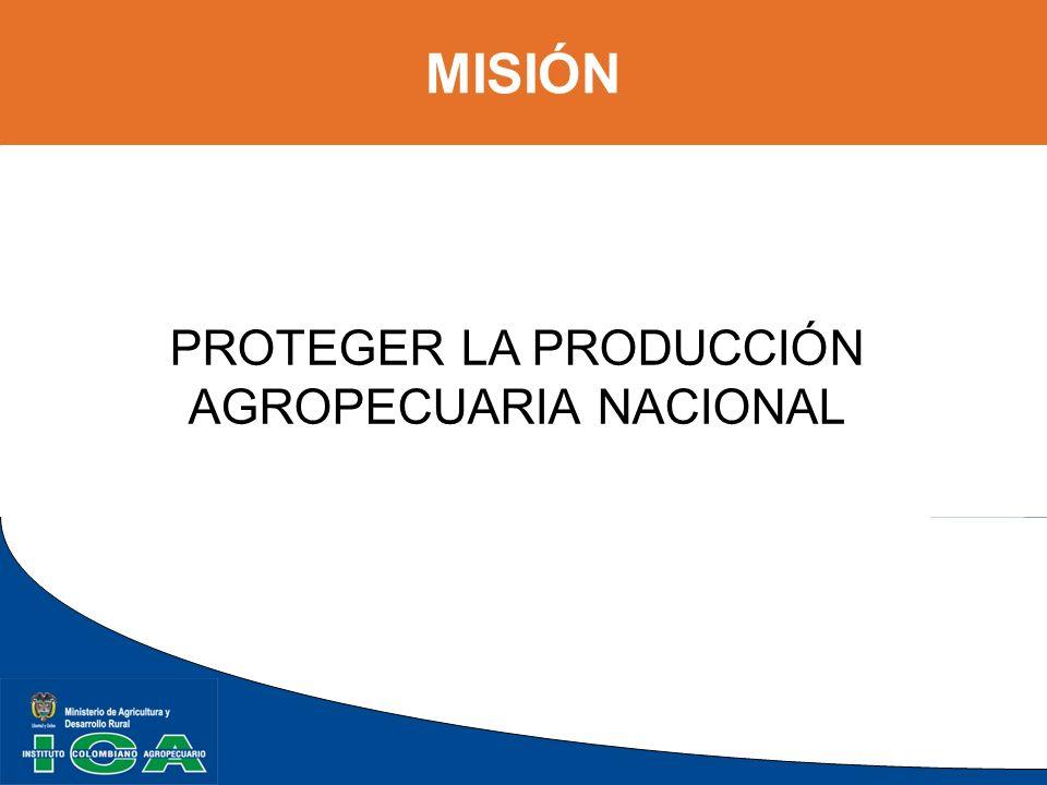 ORGANIGRAMA MINISTERIO DE AGRICULTURA Y DESARROLLO RURAL CONSEJO DIRECTIVO CONSEJO DIRECTIVO CONSEJO ASESOR ANÁLISIS DE RIESGOS Y ASUNTOS INTERNACIONALES COMITES ASESORES GERENCIA GENERAL GERENCIA GENERAL COORDINADORES SECCIONALES OFICINA CONTROL INTERNO OFICINA ASESORA PLANEACIÓN OFICINA ASESORA COMUNICACIONES OFICINA ASESORA JURÍDICA SUBGERENCIA PROTECCIÓN Y REGULACIÓN PECUARIA SUBGERENCIA ADMINISTRATIVA Y FINANCIERA SUBGERENCIA PROTECCIÓN Y REGULACIÓN AGRÍCOLA