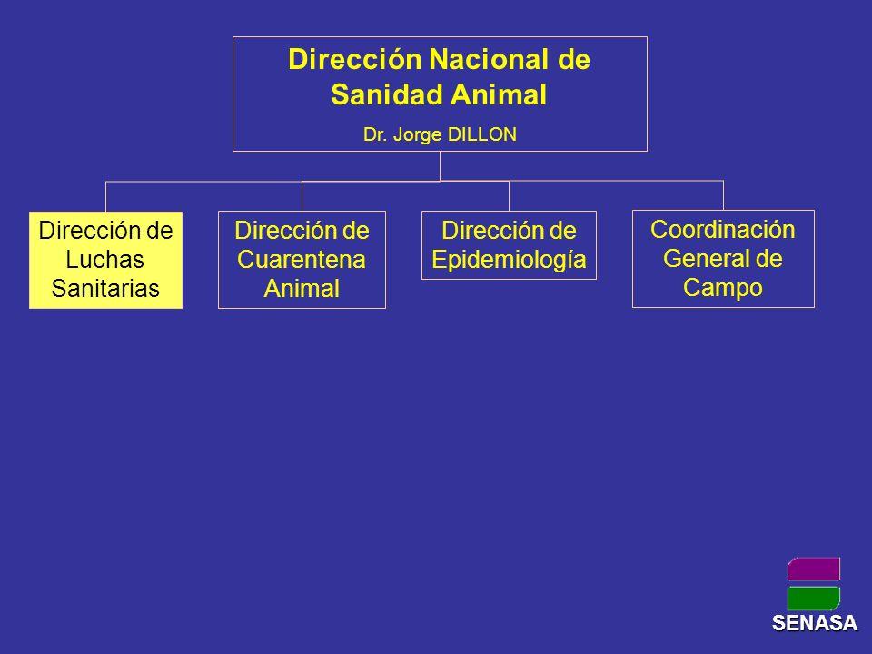Programas de la Dirección de Luchas Sanitarias Programa de Aves y Granja Programa de Enfermedades de los Porcinos Programa de Enfermedades de los Equinos Programa de Enfermedades de las Abejas Programa de Enfermedades de los Animales Acuáticos Programa de Rabia Paresiante Programa de Garrapata Programa de Sarna, Melofagos e Hidatidosis Programa de Brucelosis Programa de Tuberculosis y Leucosis Bovina Programa de Bienestar Animal Programa de BSE SENASA
