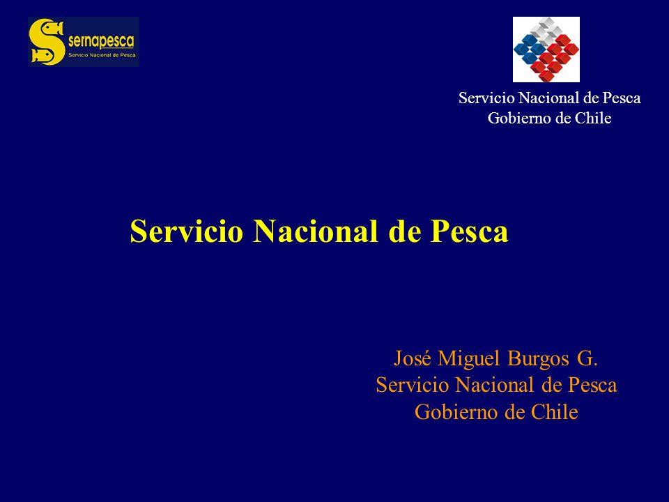 Servicio Nacional de Pesca Gobierno de Chile José Miguel Burgos G.