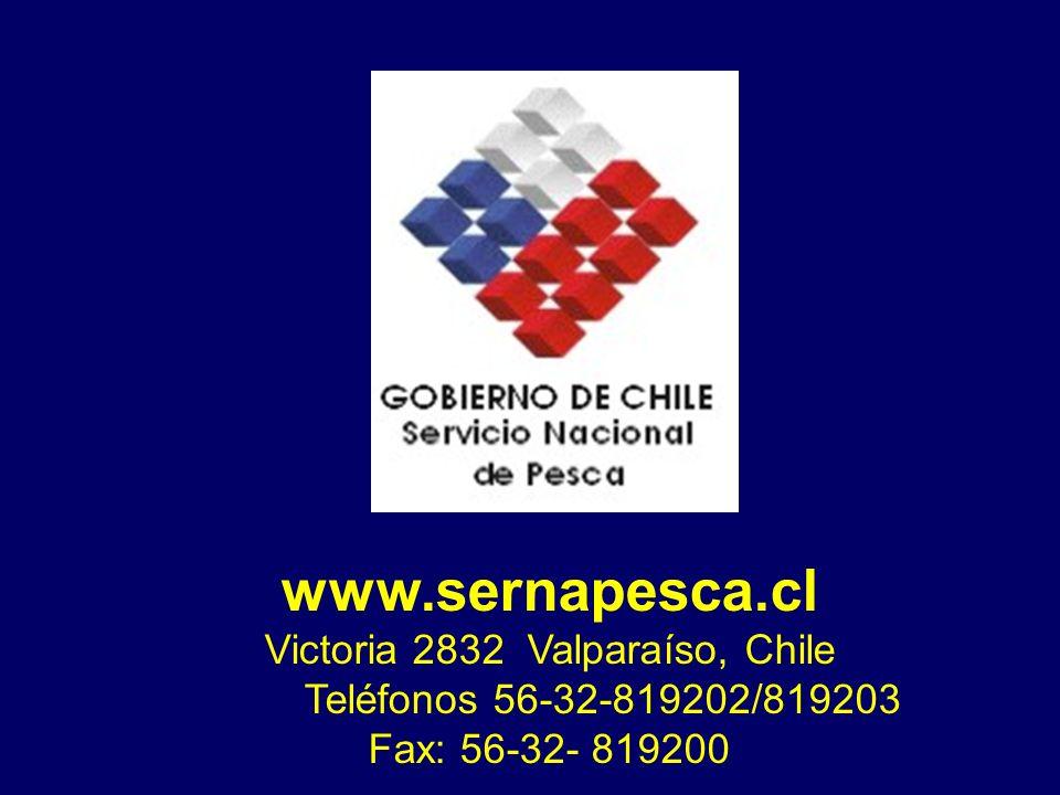 www.sernapesca.cl Victoria 2832 Valparaíso, Chile Teléfonos 56-32-819202/819203 Fax: 56-32- 819200