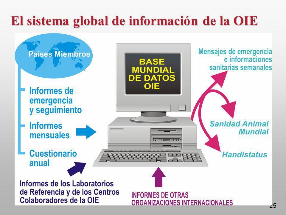 25 El sistema global de información de la OIE