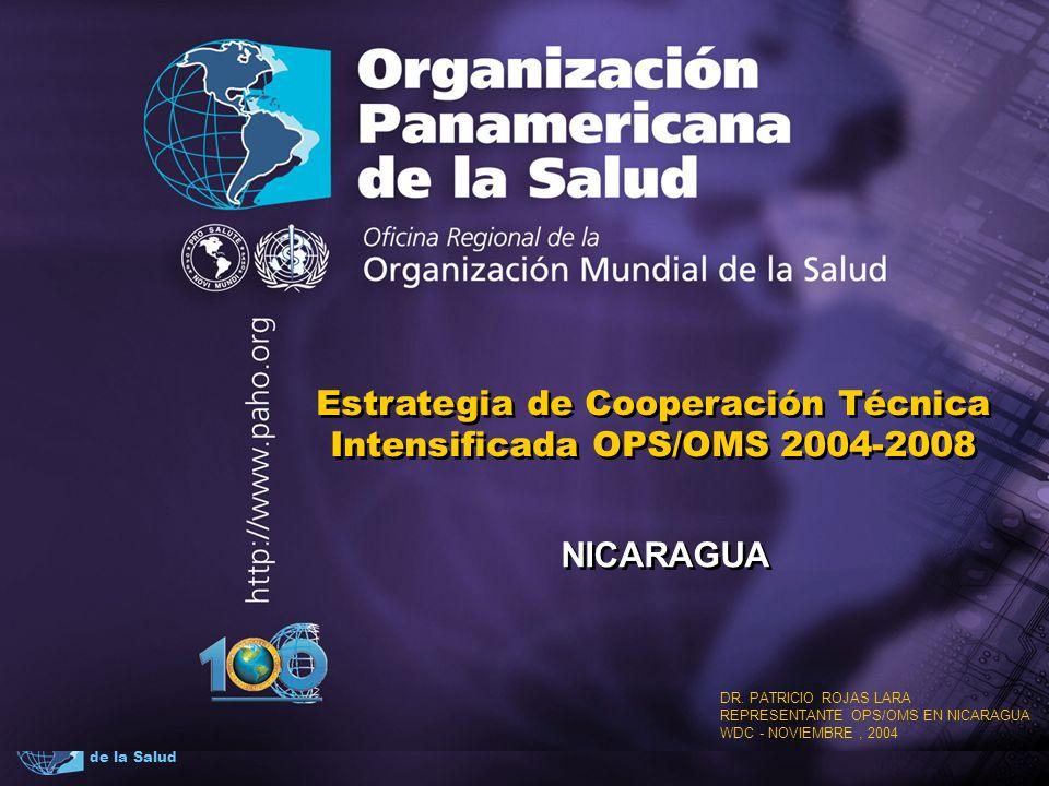 2004 Organización Panamericana de la Salud Contenido Situación del país Escenarios para la CCS Componentes y Ambitos de la CCS Lineamientos para la cooperación técnica intensificada Análisis de coherencia Implicaciones para OPS/OMS Situación del país Escenarios para la CCS Componentes y Ambitos de la CCS Lineamientos para la cooperación técnica intensificada Análisis de coherencia Implicaciones para OPS/OMS