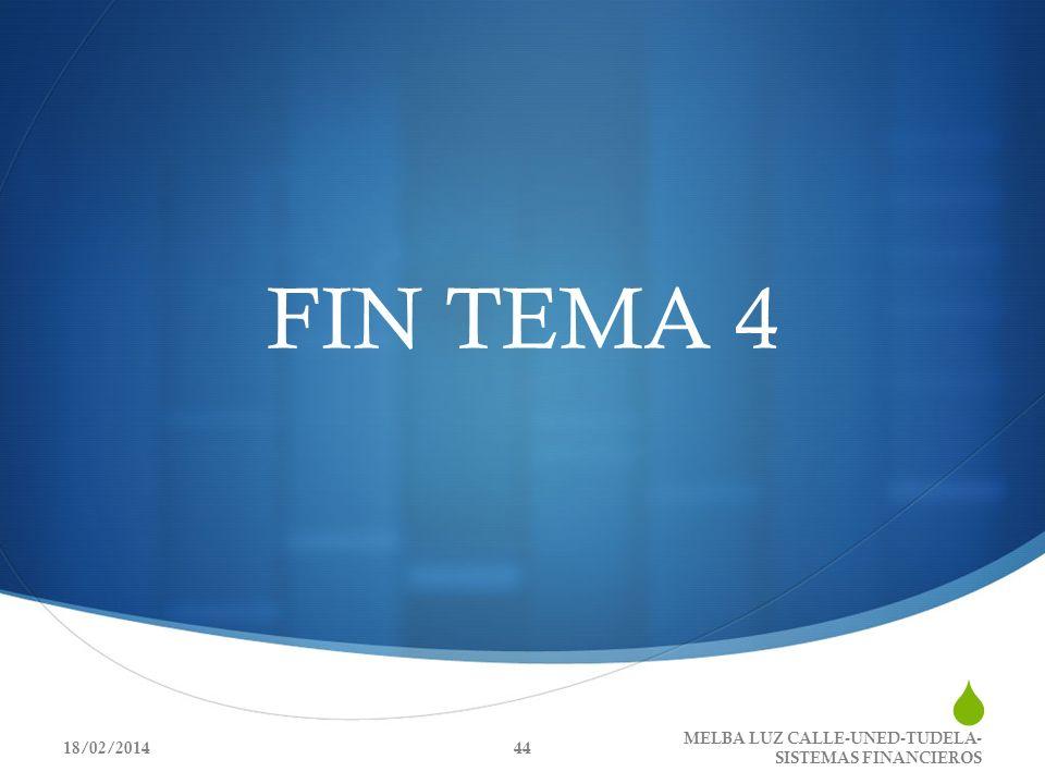 FIN TEMA 4 18/02/2014 MELBA LUZ CALLE-UNED-TUDELA- SISTEMAS FINANCIEROS 44