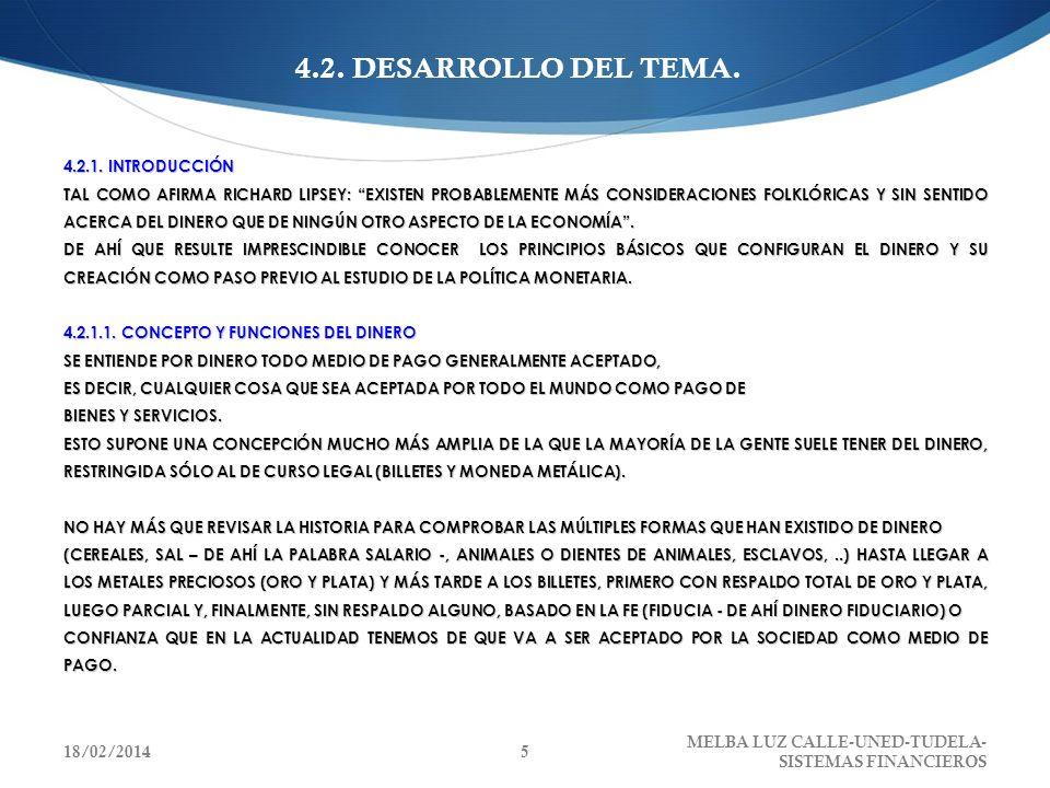 ANÁLISIS DE UN CASO HIPOTÉTICO EL PROCESO CONTINUARÁ HASTA LLEGAR A UNA SITUACIÓN FINAL DE EQUILIBRIO QUE, BAJO LOS SUPUESTOS DE 10% DE COEFICIENTE DE CAJA (C) Y RETORNO AL BANCO DE LA TOTALIDAD DEL DINERO RETIRADO, SERÍA, LA SIGUIENTE: 18/02/201426 MELBA LUZ CALLE-UNED-TUDELA- SISTEMAS FINANCIEROS